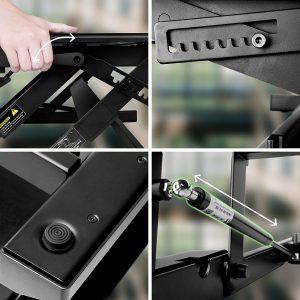 Convertisseur de table de bureau ergonomique