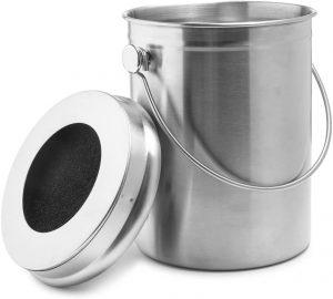 Epica Poubelle à compost en acier inoxydable