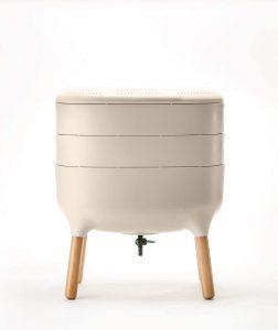Plastia composteur design pour salon - meilleur composteur de cuisine pour salon