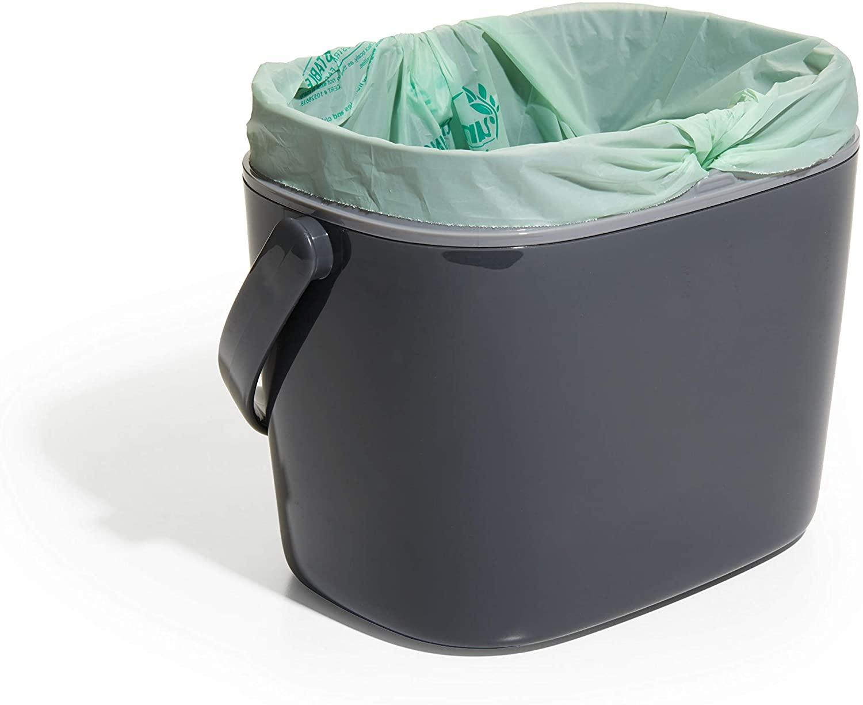Poubelle à compost, Gris, 6,6L