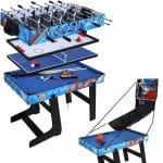 FSJD Table Multi-Jeux 5 en 1