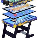 FSJD Table Multi-Jeux Pliable 5 en 1