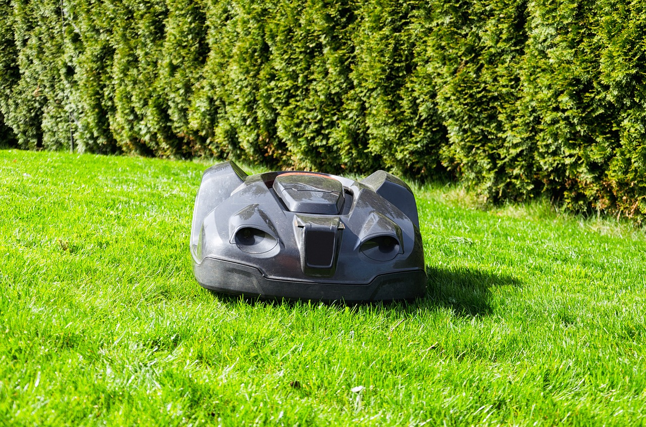 installation d'un robot tondeuse de gazon