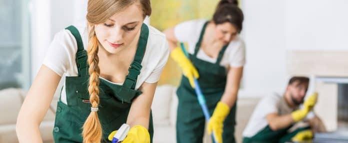Femmes et homme de ménage